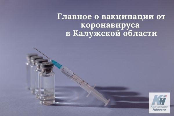 Главное о вакцинации от коронавируса в Калужской области