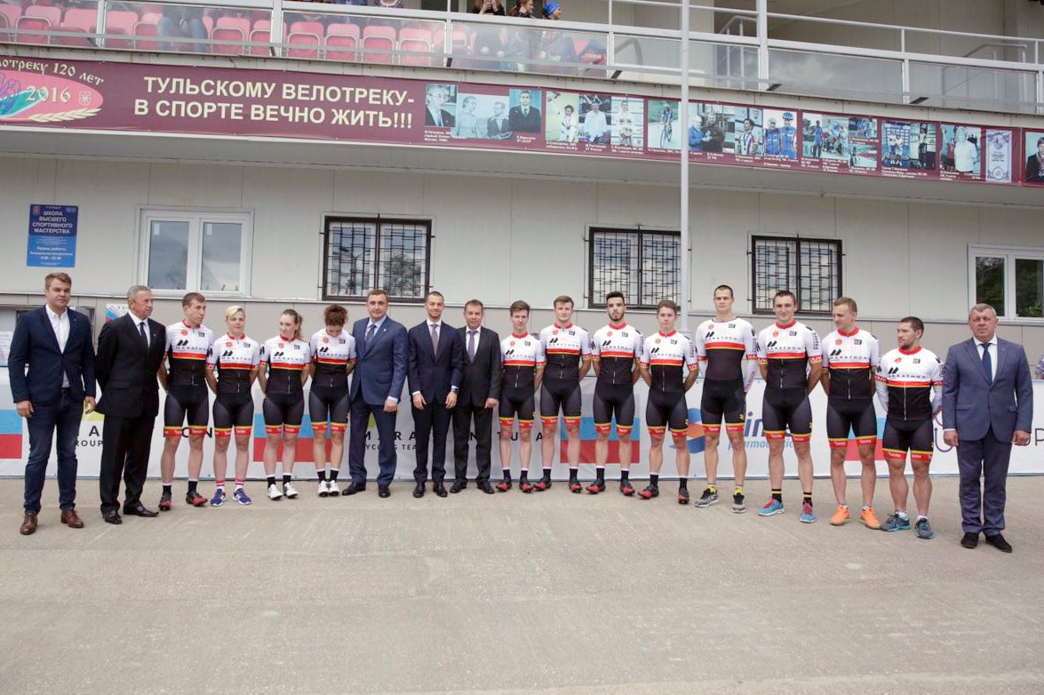 В Туле представили команду по велоспорту Marathon-Tula Cycling Team
